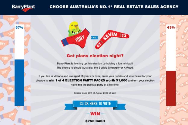 Screenshot of votetowin.com.au